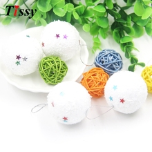 Wholesale!12PCS/Lot Christmas Balls White Snowballs Christmas Ornaments Xmas Tree Decor Christmas Party Decoration Supplies