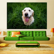 Large size Printing Oil Painting Green grass puppy Wall painting POP Art Wall Art Picture For Living Room painting No Frame