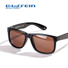 COLOSSEIN Classic Sunglasses Polarized Sun glasses Black Square Frame Men Women Eyewear For Driving and Fishing(China)