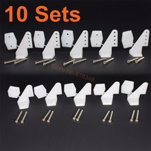 10Sets Plastic Pin Horns 4 hole With Screws L17.5xW13xH26 RC Airplane Parts Electric Planes Foam Aeromodelling Replacement