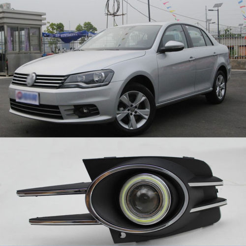 New Innovative COB Fog Light Angel Eye Bumper Projector Lens for VW Bora 2013<br><br>Aliexpress