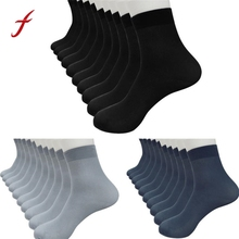 10 Pairs Bamboo Fiber Ultra-thin Elastic Silky Short Silk Stockings Men Socks Bamboo Charcoal Fiber Breathable Socks For Men(China)