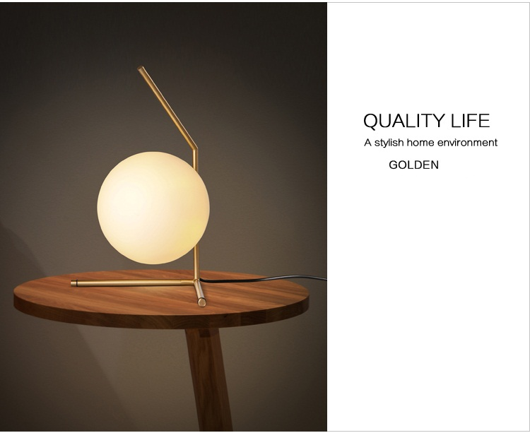 Modern LED Table Lamp Nordic Design Glass Ball Bedside Table Lamps For Bedroom 4