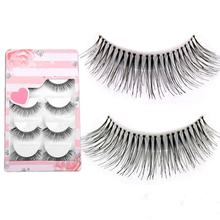 2016 New Natural Sparse Cross Eye Lashes 5pairs Extension Makeup Long False Eyelashes(China)