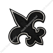 Wholesale FLEUR DE LIS Iris New Orleans Patch Embroidery Iron on Patch Cheap Sports Badge American football Applique dropship