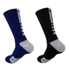 Men's Soccer Socks Cotton Cushioned Crew Athletic Basketball Football Sports Socks