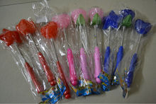 Free shipping 144pc/lot light up particles stick LED Flashing rose Stick Princess Wand Birthday Cheer Toy Party Favor