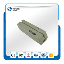 FREE SHIPPING 2016 portable RS232 Hi/Lo-co 3 Tracks MSR206 magnetic card reader writer --HCC206