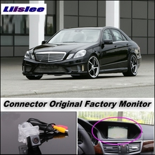 Car Camera Connect Original Factory Screen / Monitor For Mercedes Benz E Class MB W212 LiisLee Rear View Back Up Camera