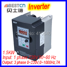 BEST 1.5kw Inverter  converter  FC300 input 220V into 0 to 220V output 0-1000Hz output 7A 24000rpm for 0.3 to 1.5kW spindle