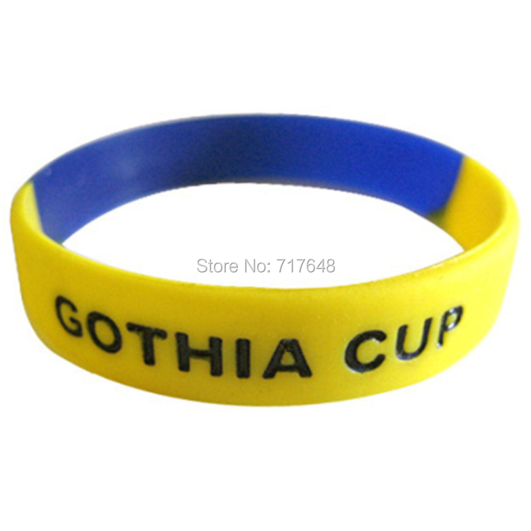 100pcs gothia cup wristband silicone bracelets free shipping by FEDEX