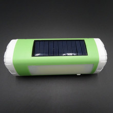 Outdoor Solar Bluetooth Speaker Wireless Portable Speaker With LED Flashlight TF Card FM enceinte bluetooth USB Mini altavoz(China)