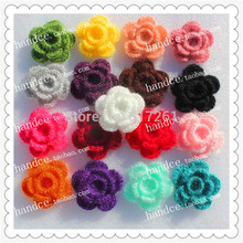 2016 fashion 5.8cm 12 pics/lot colored lace cotton artificial flower as rose for wedding decoration with lace stamens china