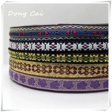 10yards/lot Beacuiful national jacquard webbing Cotton/polyester Webbing Tape Bag Straps Belt Waistband Upholstery furniture(China)