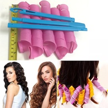 30pcs 55cm Magic Leverag Plastic Hair Rollers Curler with 3Parts Hook Set 2017 Snail Styling Volume Hair Roller