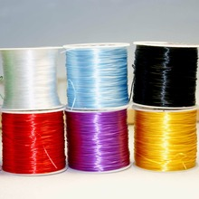 60M/Roll 1MM 8 Species Colorful Stretchy Elastic Rope Cord Crystal String For Jewelry Making Beading Bracelet Wire Rope(China)