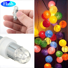 12pcs/Lot Waterproof RGB LED BALLOON Lamps 3*AG3 coin cells For Paper Lantern Lights Wedding, Birthday Party Decoration New(China)