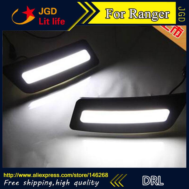 Free shipping ! 12V 6000k LED DRL Daytime running light for Ford Ranger 2012-2015 fog lamp frame Fog light<br>