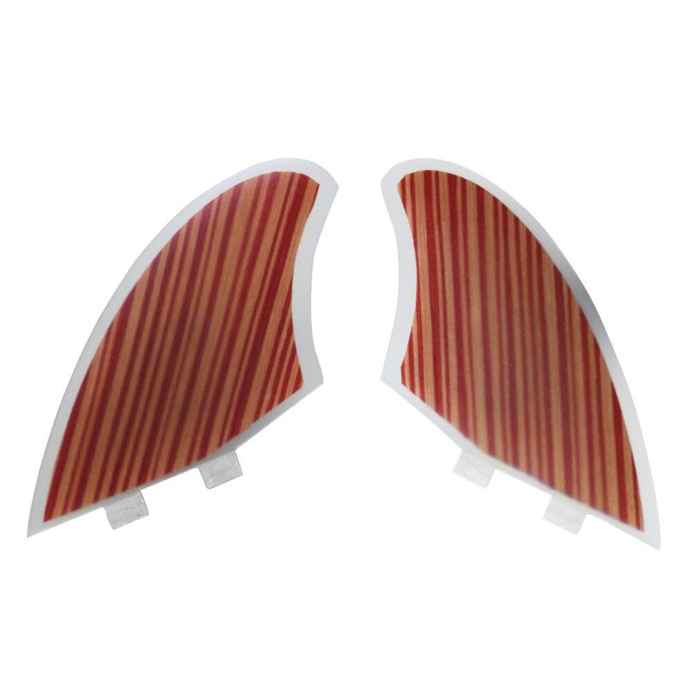 New Style 2pcs /Set Wood Veneer FCS Keel Fins<br>