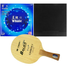 Pro Table Tennis PingPong Combo Racket Galaxy YINHE T-11+ with Dawei 388C-1 and Haifu whale II Factory Tuned FL