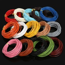 100% Genuine Leather Cord 5M Dia 2mm Multi-color Jewelry Rope String For Jewelry Making DIY Necklace Bracelet Accessories