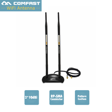 20dBi High Gain Wireless Antenna 500M Coverage 2.4GHz RP-SMA OMNI Wifi Antenna COMFAST CF-ANT2410DA for PCI Card Modem Router