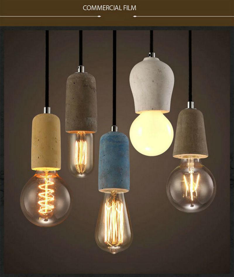 Artpad Industrial Retro Cement Pendant Light Kitchen Bathroom Dining Room Aisle LED Concrete Pendant Lamp E27 Edison Base Holder<br>