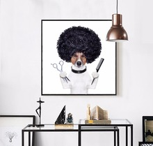 Cartoon Dogs Canvas Art Print Painting Poster Beer Dog Wall Picture for Home Decor Pets Dogs Wall Print Decor Noframe HD2185(China)