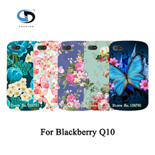 Colorful Brilliant Rose Peony Beautiful Flower Floral Drawing Hard Plastic Case For Blackberry Q10 Skin Back Cover
