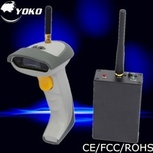 at discount Wireless handheld 1D laser barcode Scanner  bar code reader with USB2.0 RS-232 PS/2 receiver Free shipping