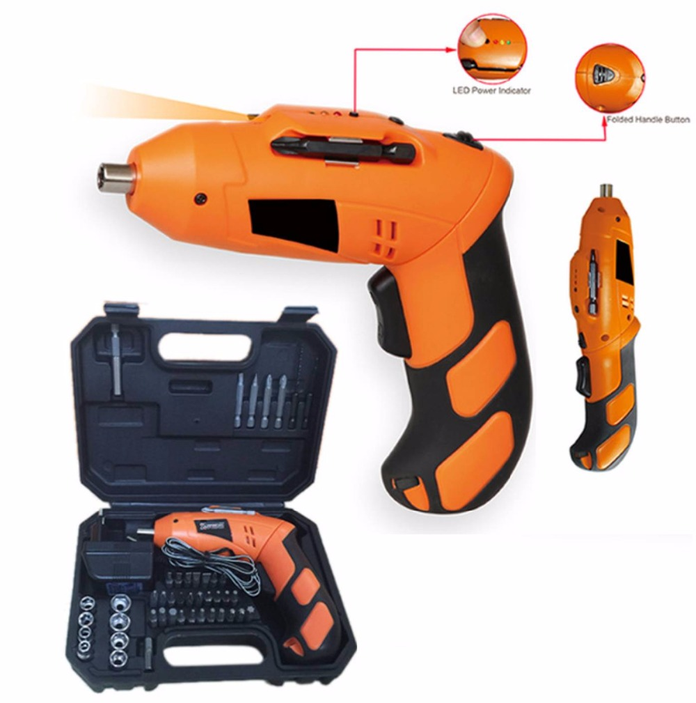 Multi-functional 90-180degree rotating mini Lithium battery electric cordless screwdriver drill wrench set with carry case<br>