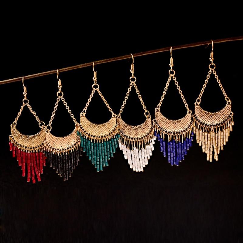 Colorful Bohemian Feather Dangle Drop Earring Gifts for Women Girls Jewelry000001001884