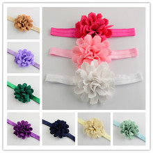10pcs/lot New Comming Cute Newborn Headband With Fabric Chiffon Flowers Kids Hair Accessories 16colors u pick FDA84