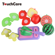 8Pcs/Lot Children Vegetable Fruit Kitchen Toys Kids Pretend Playing Cutting Toy Baby Safety Learning Educational Plastic Toys(China)