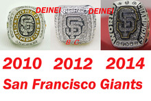 Free shipping One Set 3PCS 2010 2012 2014 San Francisco Giants series championship ring Size 11