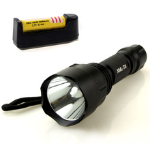 led flashlight XML T6  Linterna 3800 lumens electric torch + 18650 battery + charger