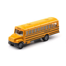 1319 Mini Yellow Alloy Diecast US School Bus Truck Model Toys Hobby Gifts Collections
