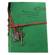 New Notebook 160 sheets (320 pages) Vintage Leather Classic Retro Vintage Green(China)