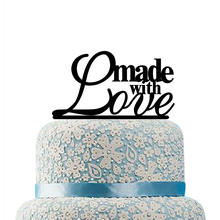 Made With Love Cake Topper for Wedding Anniversary Acrylic Monogram Cake Topper Letters Cake Toppers Wedding Cake Decorations
