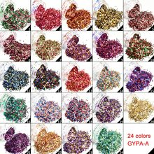 Nail Glitter Mixed Glitters Rough Surface Hexagon Nail Sequin Paillettes Nail Art Glitter Sparkles Manicure Dust 1-24 (1mm)(China)