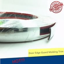25mmx3.5m Car Decoration Sticker Anti-collision Chrome Styling Molding Trim Strip Automobile Window Exterior Accessories