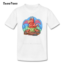 Dragon Baby T Shirt Baby Pure Cotton Short Sleeve Round Neck Tshirt children's Garment 2017 Best Selling T-shirt For Boys Girls