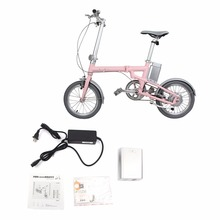 150W Brushless Motor Electric Folding Bicycle With 16 inch Wheel 36V Lithium Battery Mini E-bike Sport Mountain Bicycle(China)