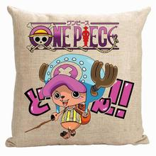Chopper pillow cover, Japanese cartoon Animation One Piece Luffy Joba cute throw pillow cover pillowcase(China)