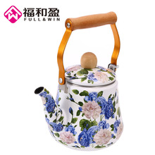 Water Kettle 1.5L Enamel Flower Teapot Ceramic Kettle Used On Electromagnetic Stove/Gas Range/Electronic Tube Heater Kitchenware(China)
