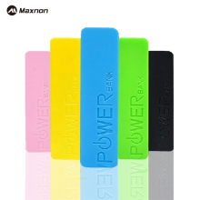 MAXNON Portable small 2000mah Battery case Charger 18650 Battery Portable External Battery Charger Power Bank For Cell Phone(China)