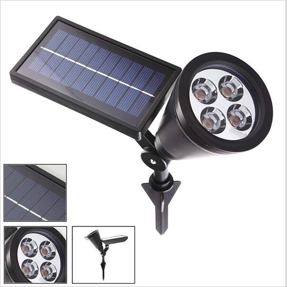 Solla LED Solar Spotlight 200 Lumens Super Bright LED Landscape Lighting 4 LED Solar Powered Outdoor Wall Light Waterproof<br><br>Aliexpress