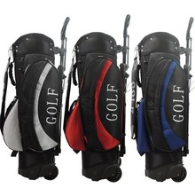 High Quality Golf Rack bag with trolly,golf stand bag with wheels golf bags.