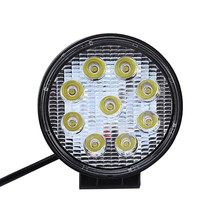 27W LED Car Work Light 12V Round Square Spot Work Light Bar For Automobile Motorcycle Lamp For Jeep Toyota SUV 4WD Boat Truck