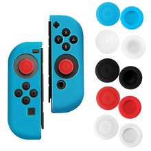 Bevigac 2Pcs Silicone Anti-Slip Thumb Stick Grips Caps Case Skin Guard for Left Right Nintendo Switch NS NX Console Controller